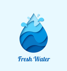 water drop logo design template vector image vector image