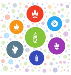 7 burn icons vector image