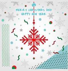 abstract christmas elements geometric snowflakes vector image