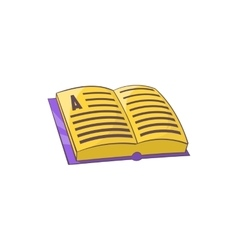 Address book icon in cartoon style vector image