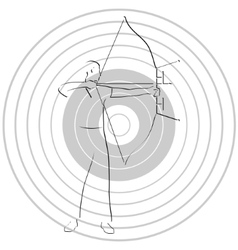 Archer and target vector image