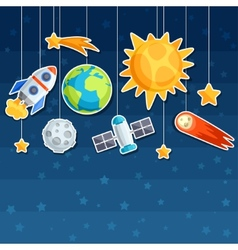 Background solar system planets and celestial vector