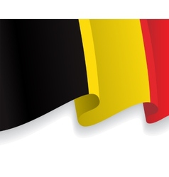 Background with waving Belgian Flag vector