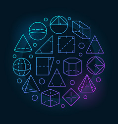 Basic geometry colorful vector