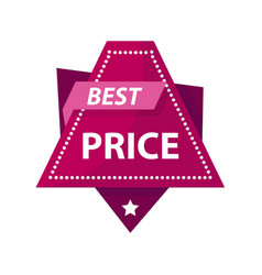 Best price bright promotional label of triangular vector
