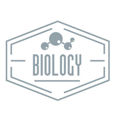 Biology logo simple gray style vector