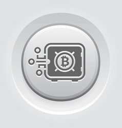 bitcoin safe box button icon vector image
