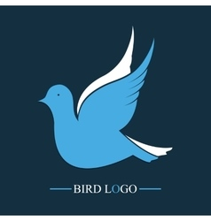 Blue Bird logo Flying dove icon vector