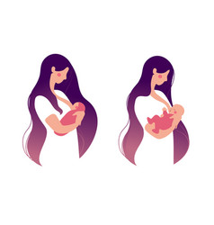 breastfeeding lactation a mother vector image