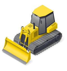 Bulldozer detailed icon vector image