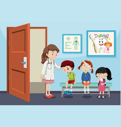 children injury in hospital vector image