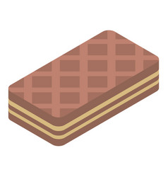 Chocolate waffles icon isometric style vector