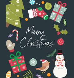 christmas decoration with an inscription inside vector image