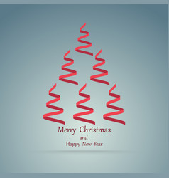 christmas ribbons in the form of a christmas tree vector image