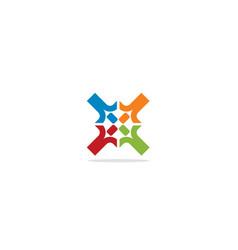 Circle shape colorful logo vector