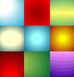 Color blend backgrounds set vector image