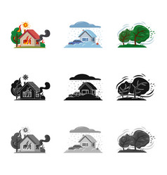Design of natural and disaster logo vector