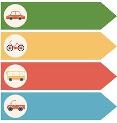 Different transportations vector