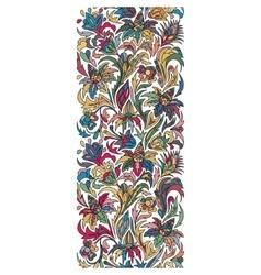 doodle flowers seamless border Zentangle vector image