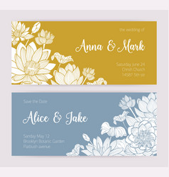Elegant wedding invitation or save the date card vector