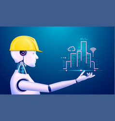 engineerrobot2 vector image