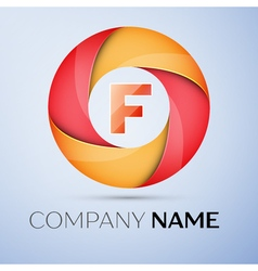 F letter colorful logo in the circle template for vector