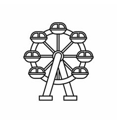 Ferris wheel icon outline style vector image