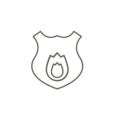 fireguard shield icon simple element from map and vector image