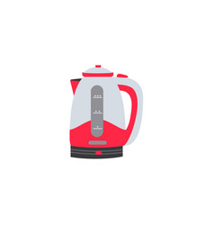 Flat electric kettle or teapot icon vector