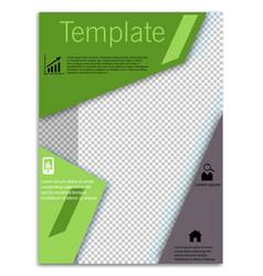 Flyer design business brochure template annual vector