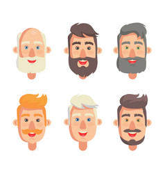 grandfathers face collection vector image