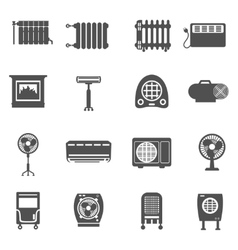 Heating And Cooling Icon Set vector