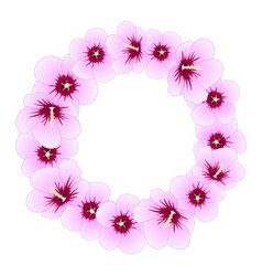 hibiscus syriacus - rose of sharon wreath vector image