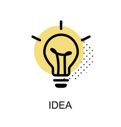 idea lightbulb graphic icon vector image