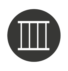 jail gate isolated icon vector image