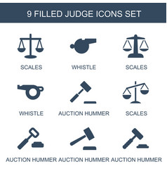 Judge icons vector