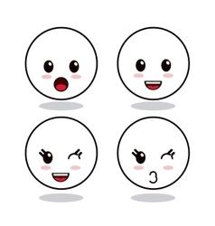 Kawaii icon Circle Cartoon design graphic vector image