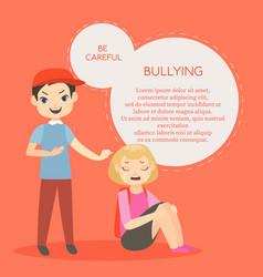 Kids bullying aggressive vector
