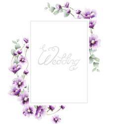 lavender summer frame watercolor card backgrounds vector image