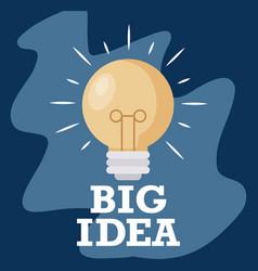 light bulb big idea icon vector image