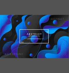 Liquid modern background with abstract style vector