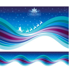 merry christmas happy new year seamless holiday vector image