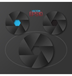 Modern flat design camera diaphragm vector