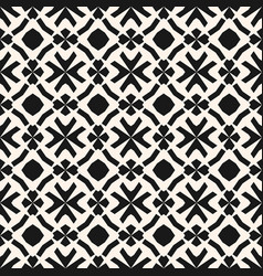 Monochrome geometric pattern in ethnic style vector