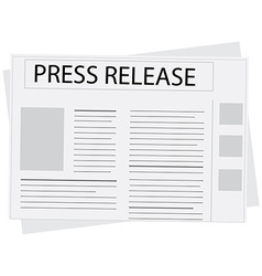 New press release vector image