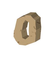 Number 0 stone rock font zero stones alphabet vector