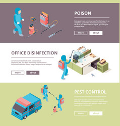 pest safety chemical poison desinfection service vector image
