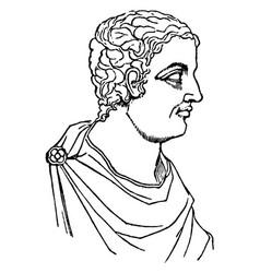 Pliny minor vintage vector