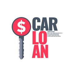 Poster an car loan vector