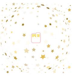 random falling gold stars on white background vector image